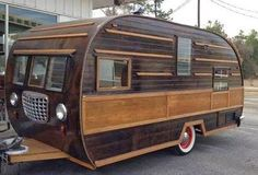Cool Woody Vintage Camper
