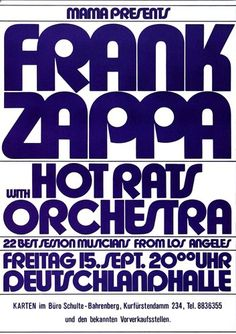 Zappa, Frank - Hot Rats 1972 - Poster Plakat Konzertposter Rock Posters, Band Posters, Music Posters, Frank Zappa, Frank Vincent, Vintage Concert Posters, Music Flyer, Cool Album Covers, Angeles