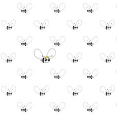 FREE printable cute bee pattern paper ^^ (- png and pdf)