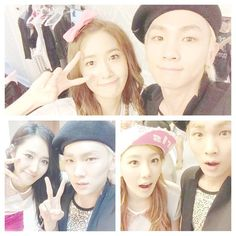 key shinee with girls generation