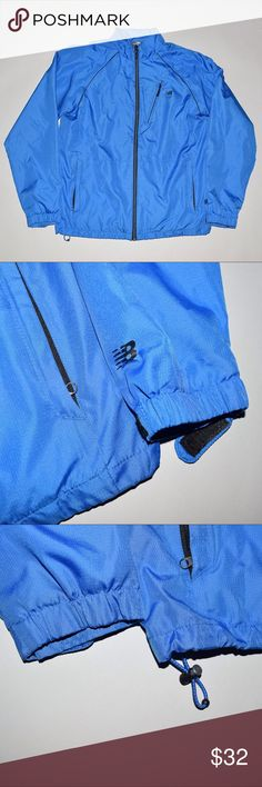 New Balance Athletic Training Windbreaker Jacket Brand: New Balance Item name: Men's Athletic Training Lined Windbreaker jacket   Color: Blue Condition: Brand new without tags. Size: Small Material: 100% polyester Measurements: Pit to Pit - 22inches Shoulder to bottom - 27 inches New Balance Jackets & Coats Windbreakers