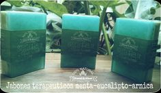 Jabón Terapeutico Menta - Eucalipto -Blend & Wear- Fails, Soap, Drinks, Glycerin Soap, Soap Dishes, Home Made Soap, Mint, Drinking, Beverages