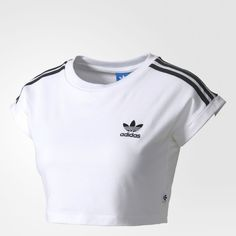 Mode adidas crop high - Lulu , Abstract: A surprising styled platinum cuff Adidas Shirt, Crop Top Adidas, Camisa Adidas, Adidas Outfit, Cute Comfy Outfits, Sporty Outfits, Trendy Outfits, Cool Outfits, Fashion Outfits