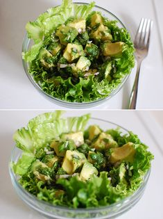 avocado herb salad