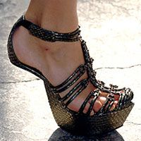 Not my style, though they look fun, there is no heel and the wearer is expected to balance themselves on the ball of their foot.  I have enought mishaps in shoes with high heels, not even going to try this one.  I would fall all over the place.
