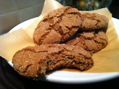 Ginger Cookies | Perfect holiday cookie to also give as a food gift. ~ #glutenfree  #soyfree  #vegan