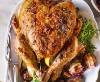 Make Christmas dinner even more special with our top tips for the the juiciest meat ever, infused with smoky goodness from an indulgent bacon butter baste christmas dinner dishes Thanksgiving Turkey, Christmas Turkey, Christmas Countdown, Christmas Time, Christmas Ideas, Christmas Crafts, Bacon And Butter, Bbc Good Food Recipes, Christmas Recipes