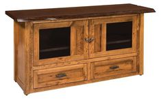 Amish Kalispel TV Cabinet with Live Edge Top Amish Kalispel TV Cabinet with Live Edge Top. Stunning live edge furniture. Lots of storage space for media collections. #LiveEdgeFurnitureAtDutchCrafters