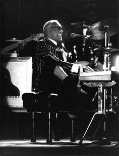 Ray Charles in concert at the Folkspark in Åhus on July 5, 1992. Photo by Bitte Yue/Pica.