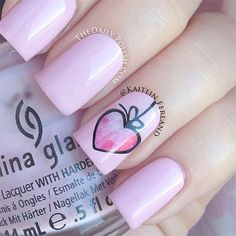 Simple Nail Art Designs & Ideas For Valentines Day 2014   Heart Nails