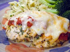This is the way we like our chicken parmesan - I get rave reviews everytime I serve it and always get asked for the recipe! It is a really easy recipe - but you do need to do some of your prep the morning (or night before) you plan to serve it. Also, to shroten time, use already prepared marinara sauce. We dont like the way it tastes, so I always make mine at home, but if you like it, I think it would be just fine. Or a lot of the time, I make a huge batch of the marinara sauce and keep it…
