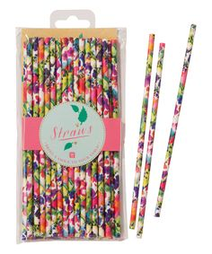 Talking Tables Floral Party Straws