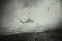 Helicopter Over Haiti by Robert Larson