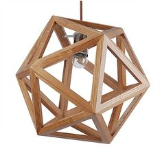 Star sharp pendant lamp with solid ash wood. It looks like elegant and power.