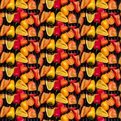 Look Closely! Peppers on Grill fabric by linda*glass on Spoonflower - custom fabric