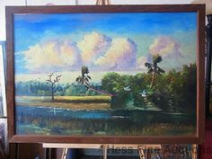 Important Hezekiah Baker Florida Highwaymen Marsh Oil Painting African American | eBay..