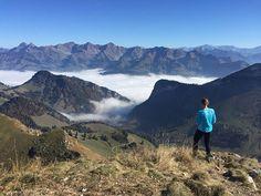 Life look easier when you take a step back (or up I should say). I escaped the grey and spent a day above the clouds.  Tout est plus simple quand on prend un peu de distance (ou de hauteur dans mon cas!). Jai fuit la grisaille et ai passé une magnifique journée au dessus des nuages.  #abovetheclouds #audessusdesnuages #hike #fallhike #mountains #mountainlover #space #silence #timetothink #randonnee #rando #montagne #randonneeautomnale #switzerland #swissalps #swissmountains #walking… Take A Step Back, Grisaille, Above The Clouds, You Take, Mount Everest, Distance, Health Tips, Simple, Day