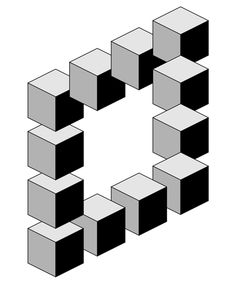 GEOMETRIE Impossible images 2 How Can I Motivate My Child? Illusion Kunst, Illusion Drawings, Illusion Art, Cool Optical Illusions, Art Optical, Isometric Drawing, Isometric Design, 3d Art Drawing, Cool Art Drawings