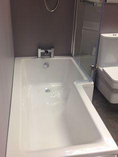 Edmonton L Shape Shower Bath, Complete With L Shape Shower Screen. Perfect for…