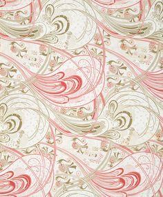 Christopher Dresser marbled paper effect pastel pink gold