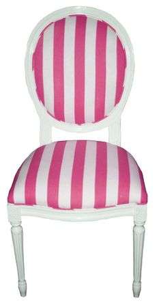 pink & white chair