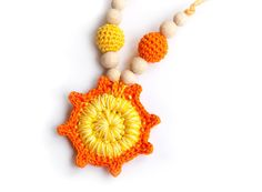 Crochet nursing necklace  Teething Necklace  different by bysiki, $17.00