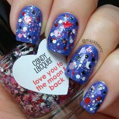 Candy Lacquer...  This is 'Love You To The Moon & Back' over China Glaze 'Fancy Pants'.  @majikbeenz