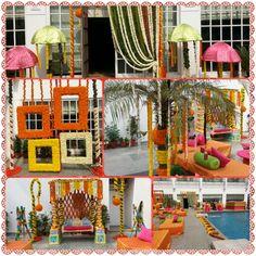 Marigold Mehendi decor