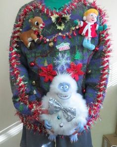 Ugliest Christmas Sweater Ever, Ugly Christmas Sweater, Christmas Stockings, Christmas Ornaments, Holiday Sweaters, Kids Ugly Sweater, Being Ugly, Arts And Crafts, Costumes