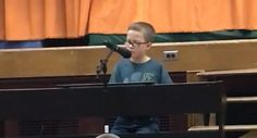 """A Minnesota fourth-grader's performance of John Lennon's """"Imagine"""" is officially viral, having reached nearly 4 million views by Friday afternoon. Adam Kornowski is a fourth… Imagine John Lennon, Show Video, Talent Show, 10 Year Old, Minnesota, The Voice, Have Fun, Singing, Bring It On"""