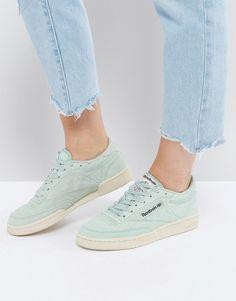 Reebok Classics Club C Pastel Sneakers In Mint Green Reebok Classic Green 2e08789b75b7e