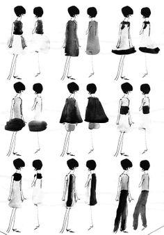 Sixties fashion shapes