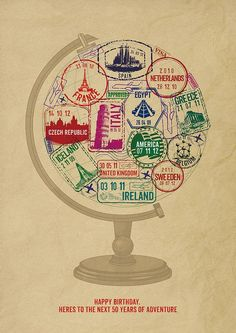 55 New Ideas For Travel Tattoo Sleeve Wanderlust Passport Stamps Travel Posters, Travel Quotes, Passport Stamps, Thinking Day, Travel Inspiration, Artsy, Scrapbook, Marriage Certificate, Usa Flag