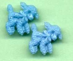 Pair Of Vintage Plastic Realistic Buttons  Lambs  by VintageVendor, $6.50