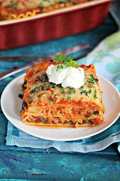 Best Chicken Spinach Lasagna - Peas and Peonies