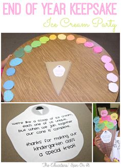 Project for End of School Year Class Project for End of Year Perfect for an Ice Cream Party too! from The Educators' Spin On ItClass Project for End of Year Perfect for an Ice Cream Party too! from The Educators' Spin On It Classroom Crafts, Classroom Fun, Classroom Activities, Preschool Activities, Future Classroom, Classroom Freebies, End Of Year Party, End Of School Year, Party Time
