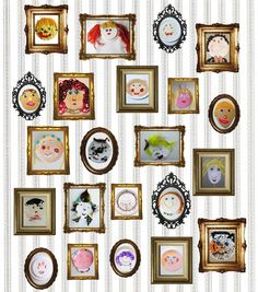 Kids' Self-Portrait Exhibition by lilla-a-design.blogspot.com: Inspiration! #Kids #Self_Portrait #lilla_a_design
