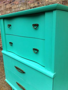 Vintage Highboy In Spearmint by minthome on Etsy, $299.00