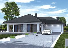 Modern Bungalow House, Bungalow House Plans, Dream House Plans, Modern House Design, House Paint Exterior, Dream House Exterior, Exterior Design, Facade House, House Front
