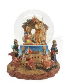 Lightahead PolyResin Nativity Scene Musical Water Snow Ball playing tune and Rotating Table Top Decoration (80mm) > Quickly view this special  product, click the image : Home Decor Snow Globes