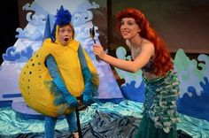 The role of Ariel is shared by Hannah Duff (pictured) and Rachel Haik. Flounder is played by Kaira Plaster.