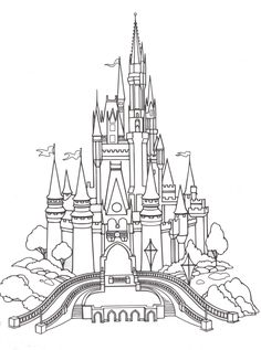 1000 images about printable coloring pages for adults on for Cinderella castle coloring pages print