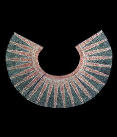 "Moche pectoral of white, pink and green shell beads | Collection Museo Tumbas Royales de Sipan. // Pg 261 ""The Worldwide History of Beads"" by Lois Sherr Dubin. 2009 edition."