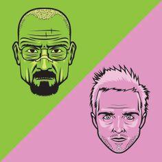 Joshua Ariza / Breaking Bad Illustrations / Walt & Jesse