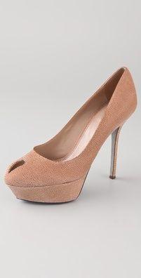 need these - sergio rossi peep toe pumps