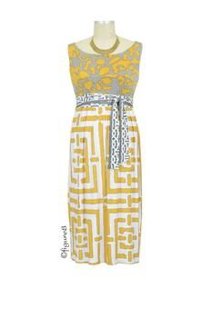 Brooke Maternity Dress in Yellow Geometric Print by Olian with free shipping
