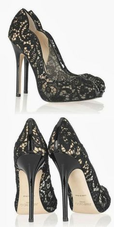 Lovey lace high heels