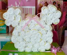 Minnie Mouse Diaper Cake Art on Etsy, $29.00
