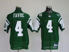 $25.00 Reebok NFL Jersey New York Jets Brett Favre #4 Green White