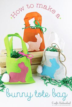 Here's a quick & fun spring craft for kids - cute bunny treat bags. You can make these DIY treat bags in less than 30 minutes! Ready to get started?